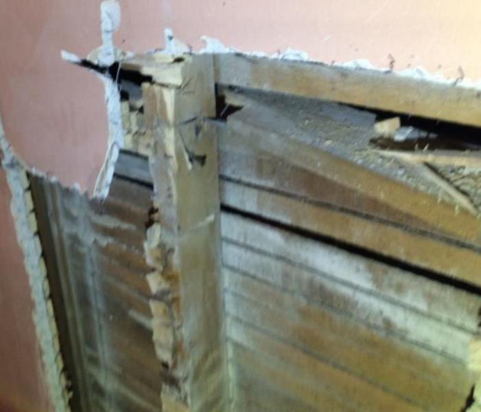 Wall Repair After Fire Before