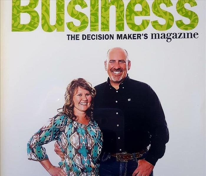 female and male owners on Magazine Cover