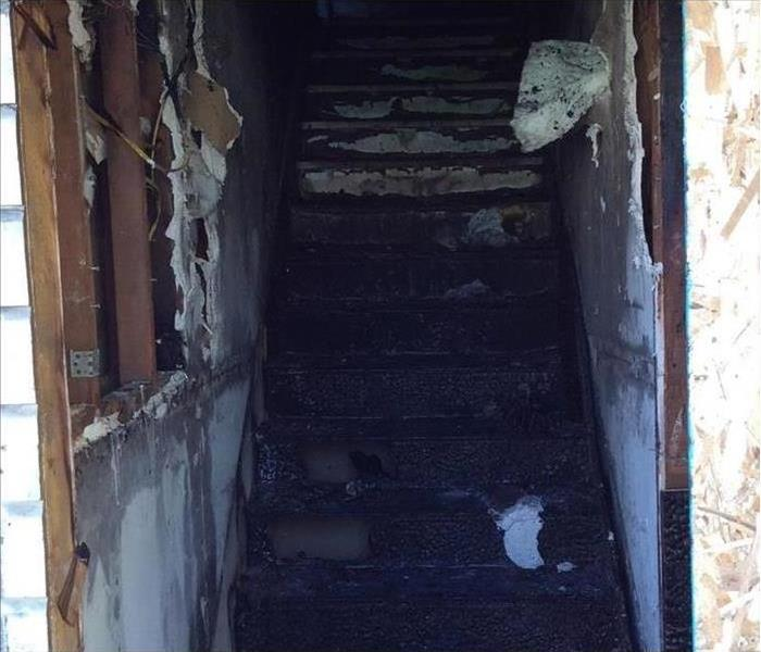 Charred Stairs from Fire
